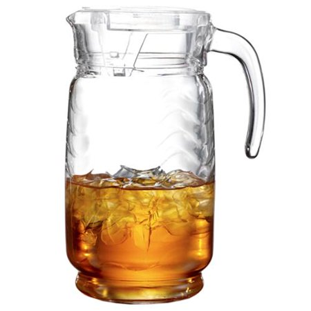 128 Ounce Pitcher - STYLE SETTER - SOHO Allure Glass 64-ounce Pitcher With Clear Lid