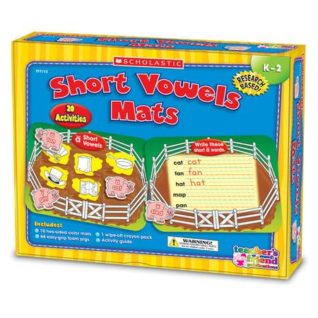 Scholastic Vowels Mats Kit, Short Vowels, Pigs, Grades K-2 (Short Vowels Mats)
