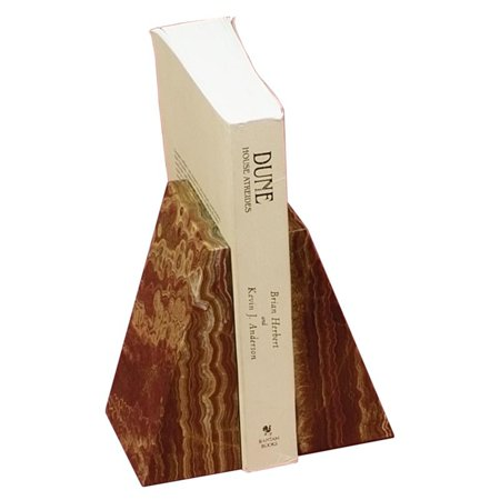 Swirl Amber Tapered Marble Bookends ()