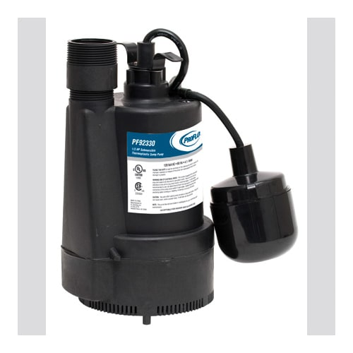 ProFlo PF92330 1/3 HP Plastic Sump Pump with Base