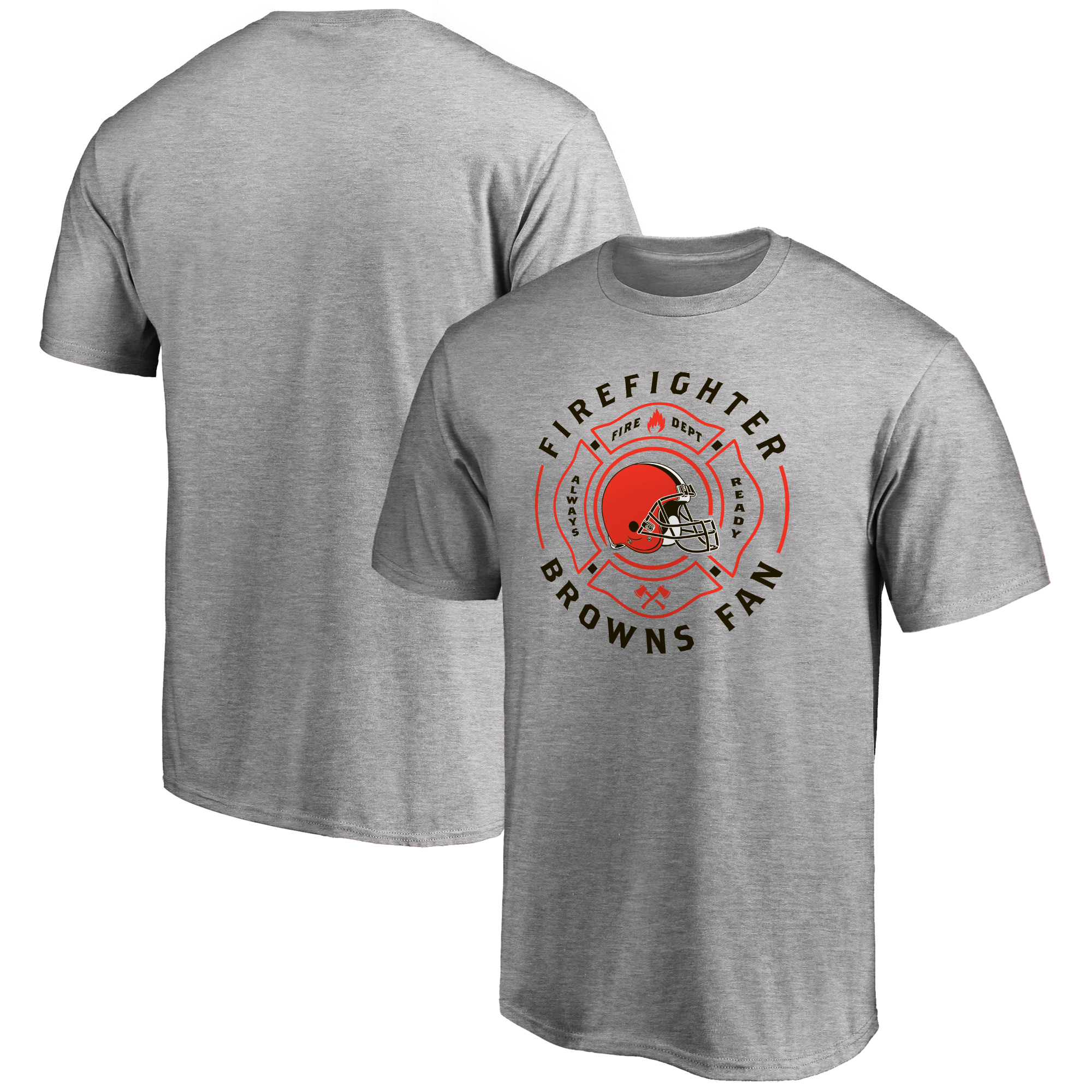 Cleveland Browns NFL Pro Line Firefighter T-Shirt - Athletic Heather