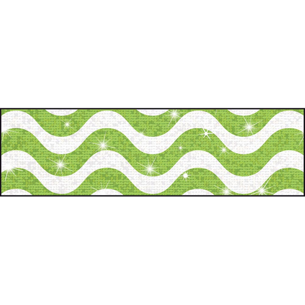 T-85413 - Wavy Lime Bolder Borders® – Sparkle Plus by Trend Enterprises Inc.