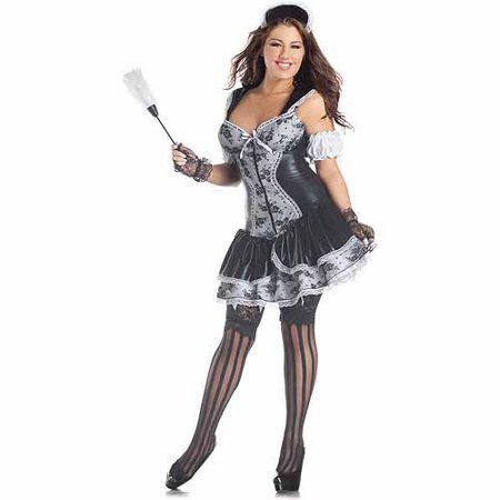 French Maid Body Shaper Plus Size Adult Halloween Costume - French Maid Costumes Plus Size