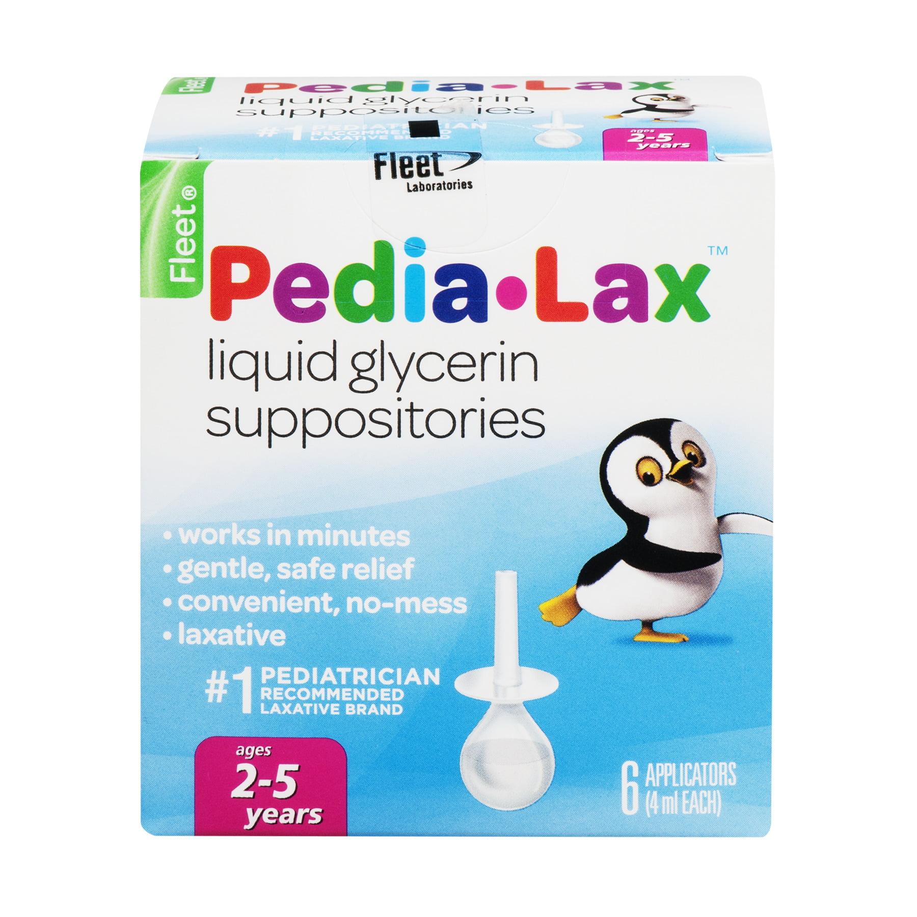 Fleet Pedia-Lax Liquid Glycerin Suppositories, 6 count