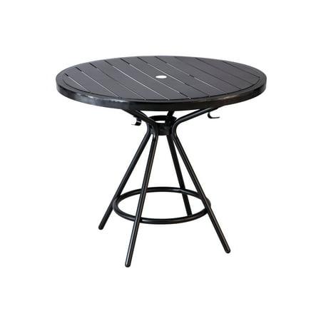 """CoGo™ Steel Outdoor/Indoor Table, Round, 36"""", Black"""
