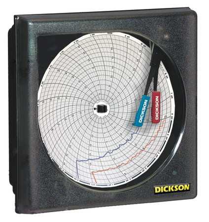 7.56 Temperature and Humidity Circular Chart Recorder, Dickson, TH6P1