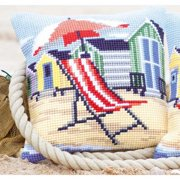 Vervaco On the Beach Pillow Cover or Picture Needlepoint Kit