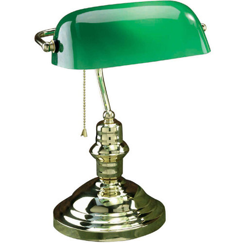 Lite Source Banker Desk Lamp - Polished Brass