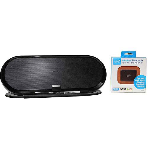 Philips DS7650/37 10W Fidelio Rechargeable Portable Docking Speaker Bundled with iLive Bluetooth Adapter, Refurbished