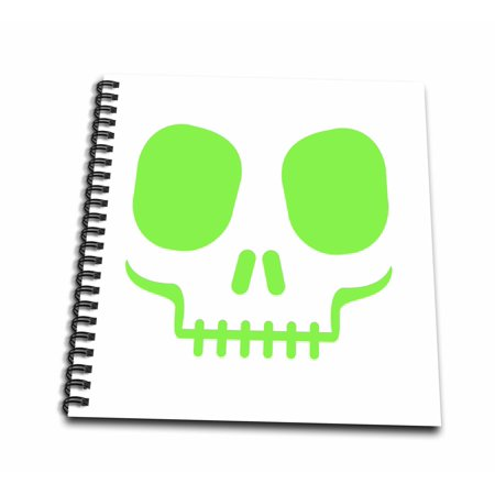 3dRose Green Scary Halloween Skull Face - Drawing Book, 8 by - Halloween Drawing Skulls