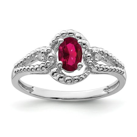 Accent Ring Jewelry (0.49ct Oval Cut Ruby and Diamond Accent Engagement Ring, Size 10 for Mens Jewelry Gifts)