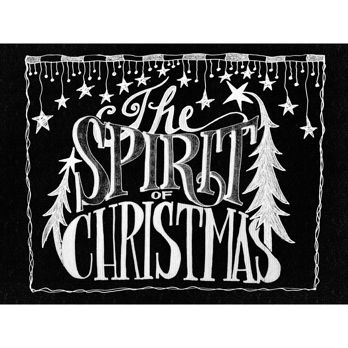 "Chalkboard Canvas Print 12""X15.75""-The Spirit"