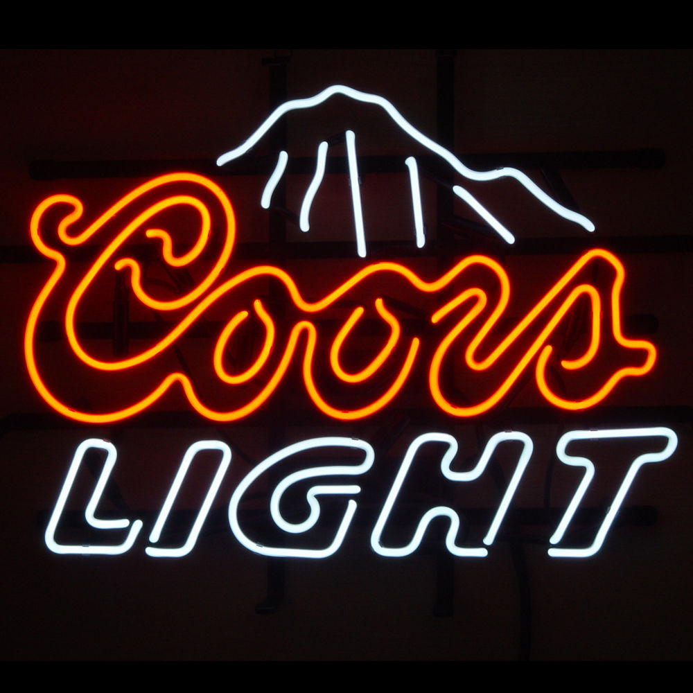 coors light led illuminated bar display clear perspex rocky mountains menuholder