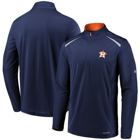 (Houston Astros Majestic Perfect Movements Cool Base Quarter-Zip Pullover Jacket - Navy)