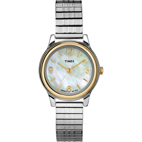 Timex Women's Two-Tone Dress Watch, Stainless-Steel Expansion Band
