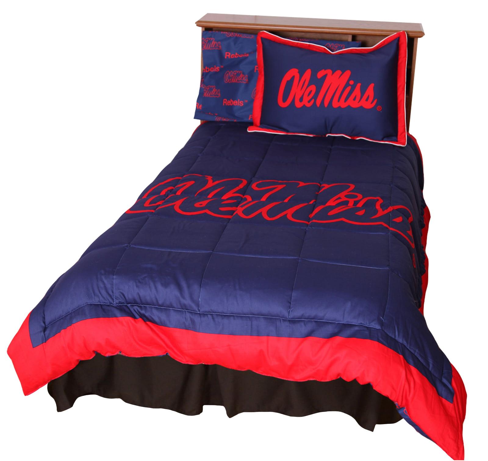 Mississippi Rebels 2 Pc Comforter Set, 1 Comforter, 1 Sham, Twin