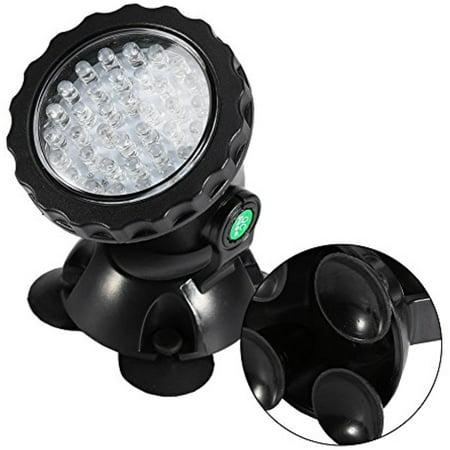 Underwater Led Lights,36-LED Waterproof Submersible Spotlight Landscape Lamp for Aquarium Garden Pond Pool Tank (Underwater Matches)