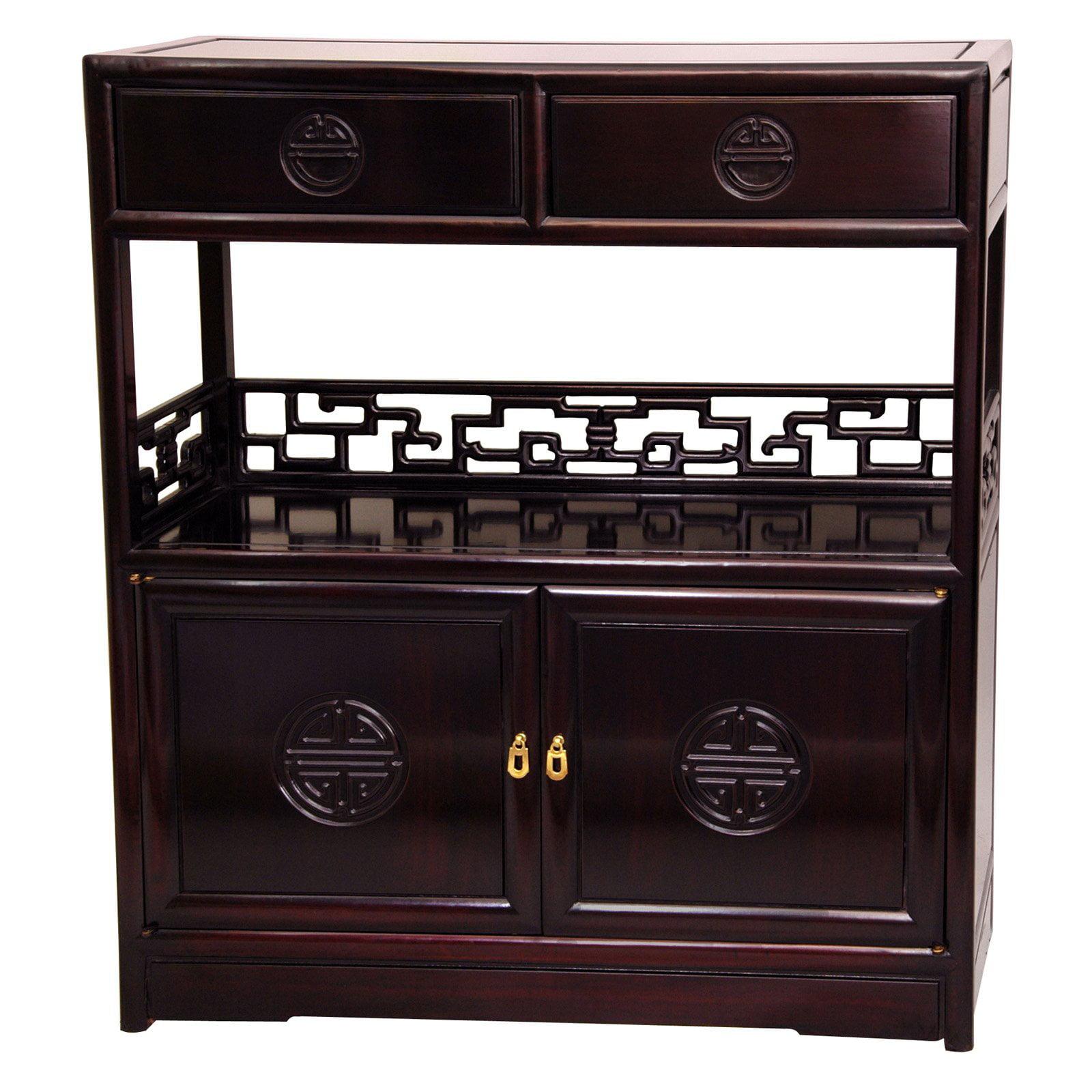 Rosewood Long Life Display Cabinet, Rosewood