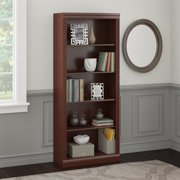 Bush Furniture Saratoga 5 Shelf Bookcase in Harvest Cherry