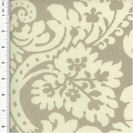 Braemore Damask Print Grey Home Decorating Fabric, Fabric Sold By the Yard