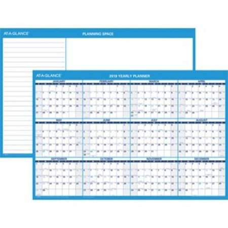 At a Glance PM200-28 At-a-glance Erasable Yearly Horizontal Wall Planner - Yearly - 36
