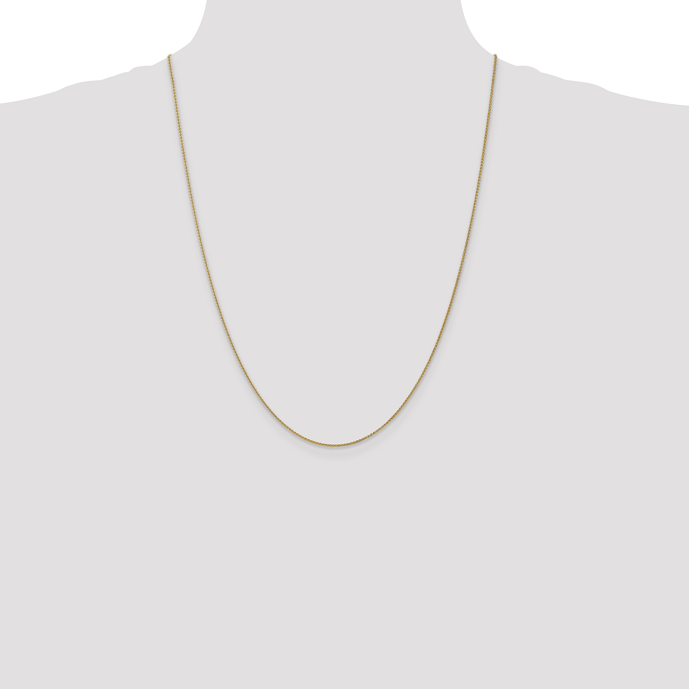 14k Yellow Gold 1mm Solid Spiga Chain Necklace 24 Inch Pendant Charm Wheat Fine Jewelry Gifts For Women For Her - image 1 of 5