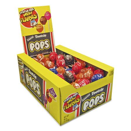 Tootsie Roll Tootsie Pops  Tootsie Pops, 100 ea (Tootsie Roll Colors)