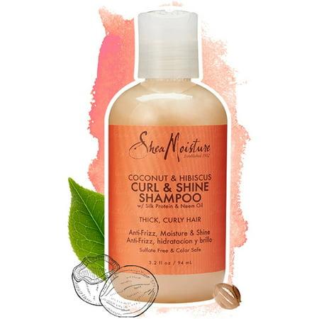 SheaMoisture Coconut & Hibiscus Shampoo TRVL, 3.2