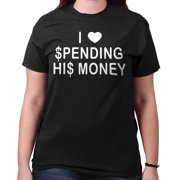 Spending Money Funny Shirt | Cool Gift Sarcastic Gold Digger T-Shirt Tee