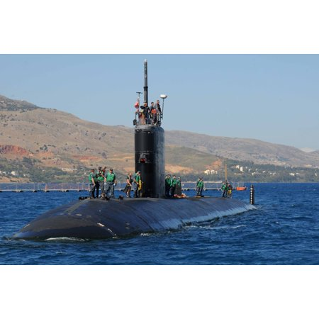 24' Vessel Stand - LAMINATED POSTER Sailors aboard the Los Angeles-class attack submarine USS Annapolis (SSN 760) stand by as the vessel Poster Print 24 x 36