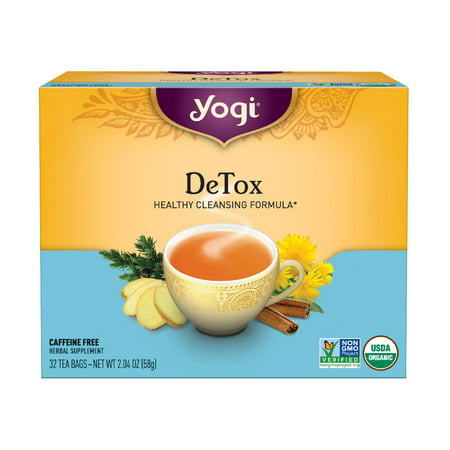 Yogi Tea, DeTox Tea, Tea Bags, 32 Ct, 2.04 OZ (Best Herbal Tea For Detox And Weight Loss)