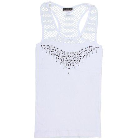 Cute Halter Neck Nylon Sleeveless Tank Dress Top - White](White Halter Top)