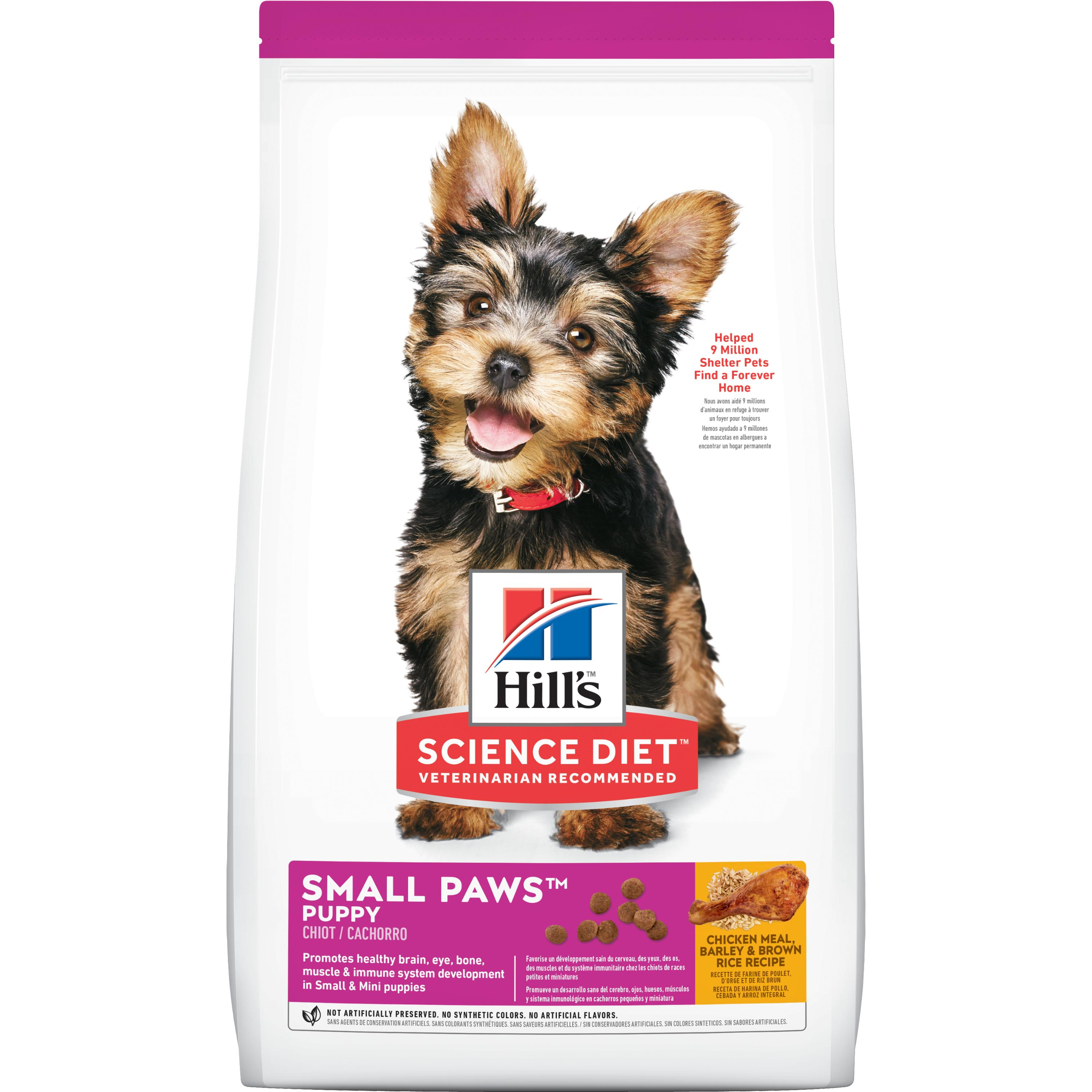 Hill's Science Diet (Spend $20,Get $5) Puppy Small Paws Chicken Meal, Barley & Brown Rice Recipe Dry Dog Food