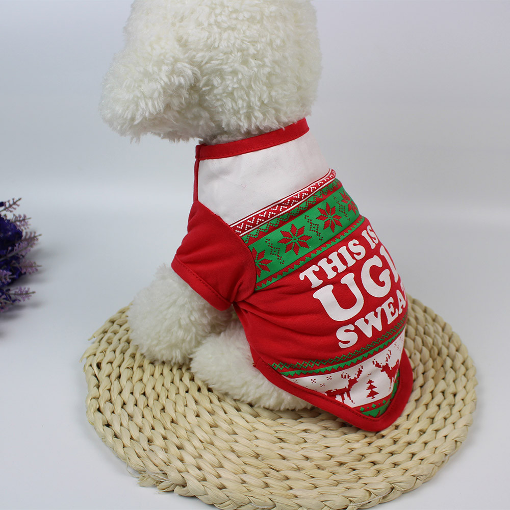 Christmas Cute Dog T Shirt Pet Clothes Apparel Vests Costumes Clothing