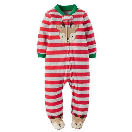 Carters - Carters Infant Boys Fleece Christmas Reindeer Sleep N  Play Blanket  Sleeper NB - Size - Newborn - Walmart.com 6a806810f