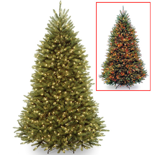 National Tree Pre-Lit 7.5' Dunhill Fir Tree with 700 Low Voltage LED Dual Lights