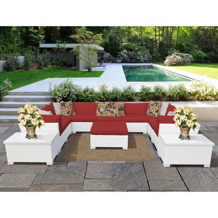 - TK Classics Monaco 12-Piece Outdoor Wicker Patio Conversation Set