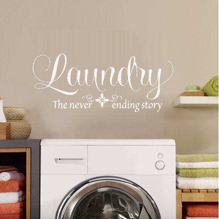 Decal Laundry the never ending story Wall Decal 13 x 30