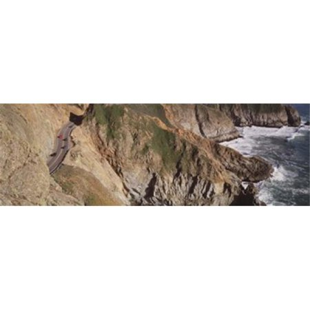 USA  California  Big Sur  Pacific Coast Highway 1  High angle view of freeway Poster Print by  - 36 x 12 Big Sur Coast Highway