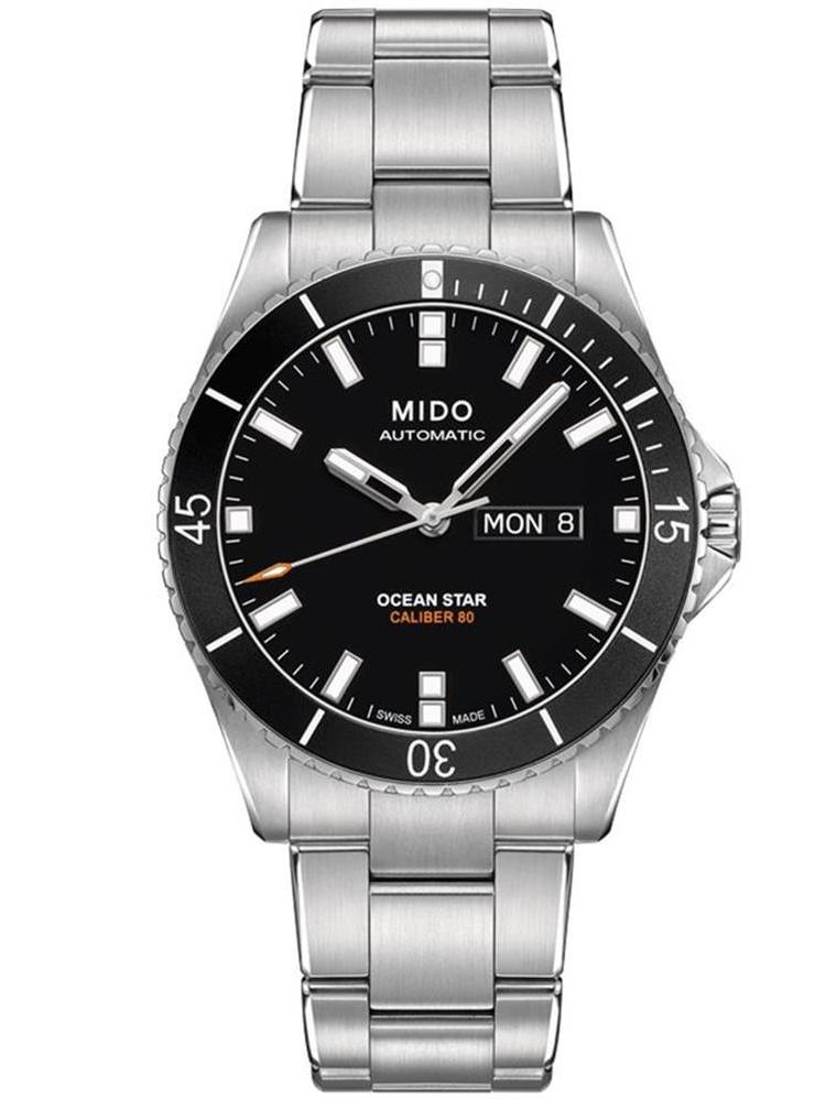 Men's Ocean Star Captain 42.5mm Steel Bracelet & Case Automatic Black Dial Watch M026.430.11.051.00