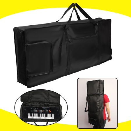 Portable 61-key Keyboard Thick Padded Electric Piano Bag Double Shoulder Black - image 4 de 4