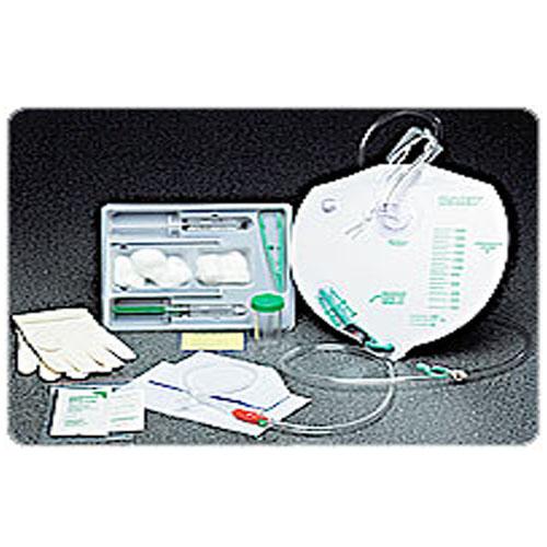 Bardex 100% silicone drain bag foley catheter tray 14 fr 5 cc part no. 897214 (1/ea)