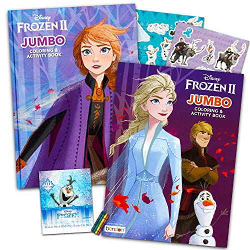 - Disney Frozen 2 Coloring Book Set With Over 100 Stickers (Bundle Includes 2 Frozen  Coloring Books) - Walmart.com - Walmart.com