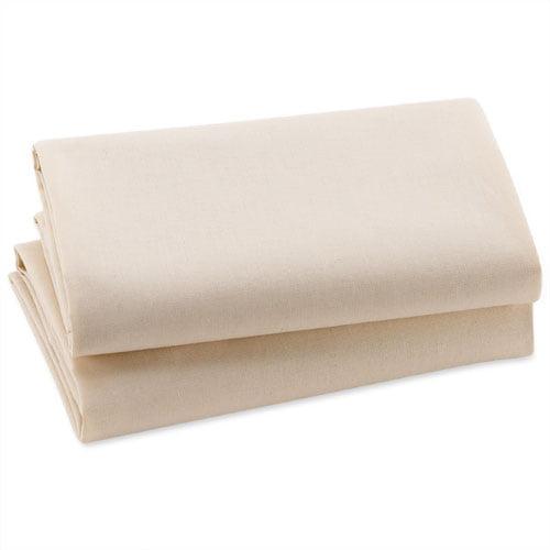 Natural Cotton Bassinet Sheets, 2-Pack