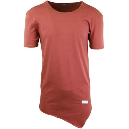 112fdf16ea2f ShirtBANC - ShirtBANC Mens Hipster Hip Hop Long Drop Tail T Shirts  (Asymmetric Tee Auburn, L) - Walmart.com