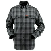 Outback Trading Shirt Mens Long Sleeve Troy Performance Steel 42633