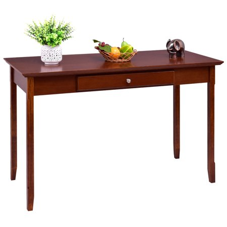Deck Console - Costway Wood Console Table Writing Desk with One Drawer Entryway Living Room Furniture