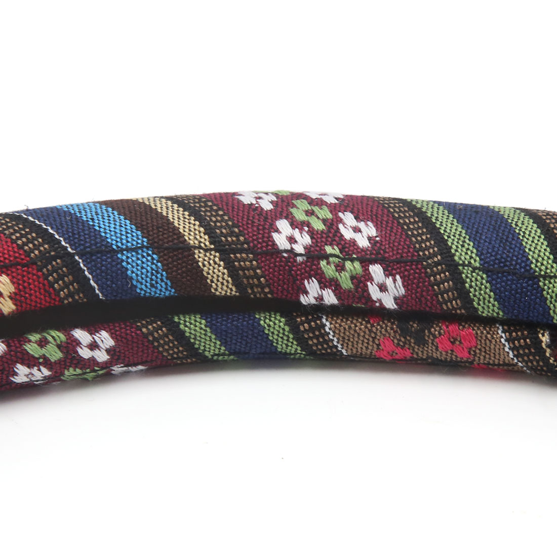 L Size Ethnic Style Coarse Flax Cloth Car Steering Wheel Cover Protector-B - image 1 de 3