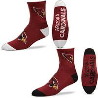 Arizona Cardinals For Bare Feet Quarter-Length Socks Two-Pack Set