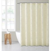 Mainstays 14 Piece Fern Print Sheer Shower Curtain Set with Liner and 12 Hooks